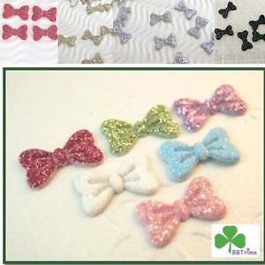 120-pc-x-5-8-034-Mix-Padded-Shiny-Glittered-Felt-Bow-Appliques-Minnie-Mickey-ST390