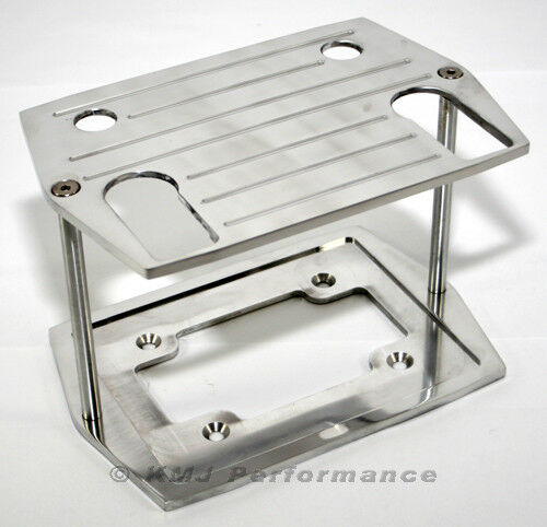 Optima 75//25 Ball Milled Aluminum Battery Hold Down Tray Group 75 35 Red Yellow