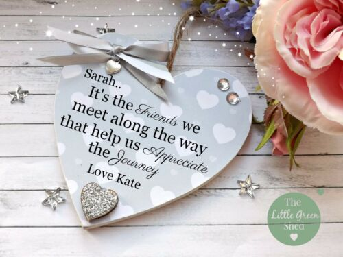Friends Plaque Heart Thank you Grateful Sign Personalised Gift