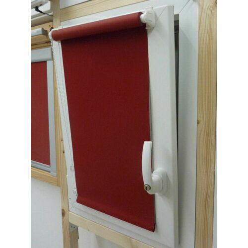 Höhe 175 cm rot Mini-Rollo Klemmfix ALU THERMO Klemmrollo Verdunkelung