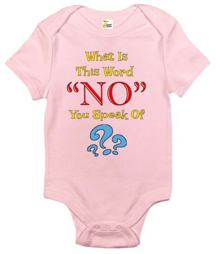 What Is This Word No You Speak Of Baby Clothes for Infants Baby Bodysuit