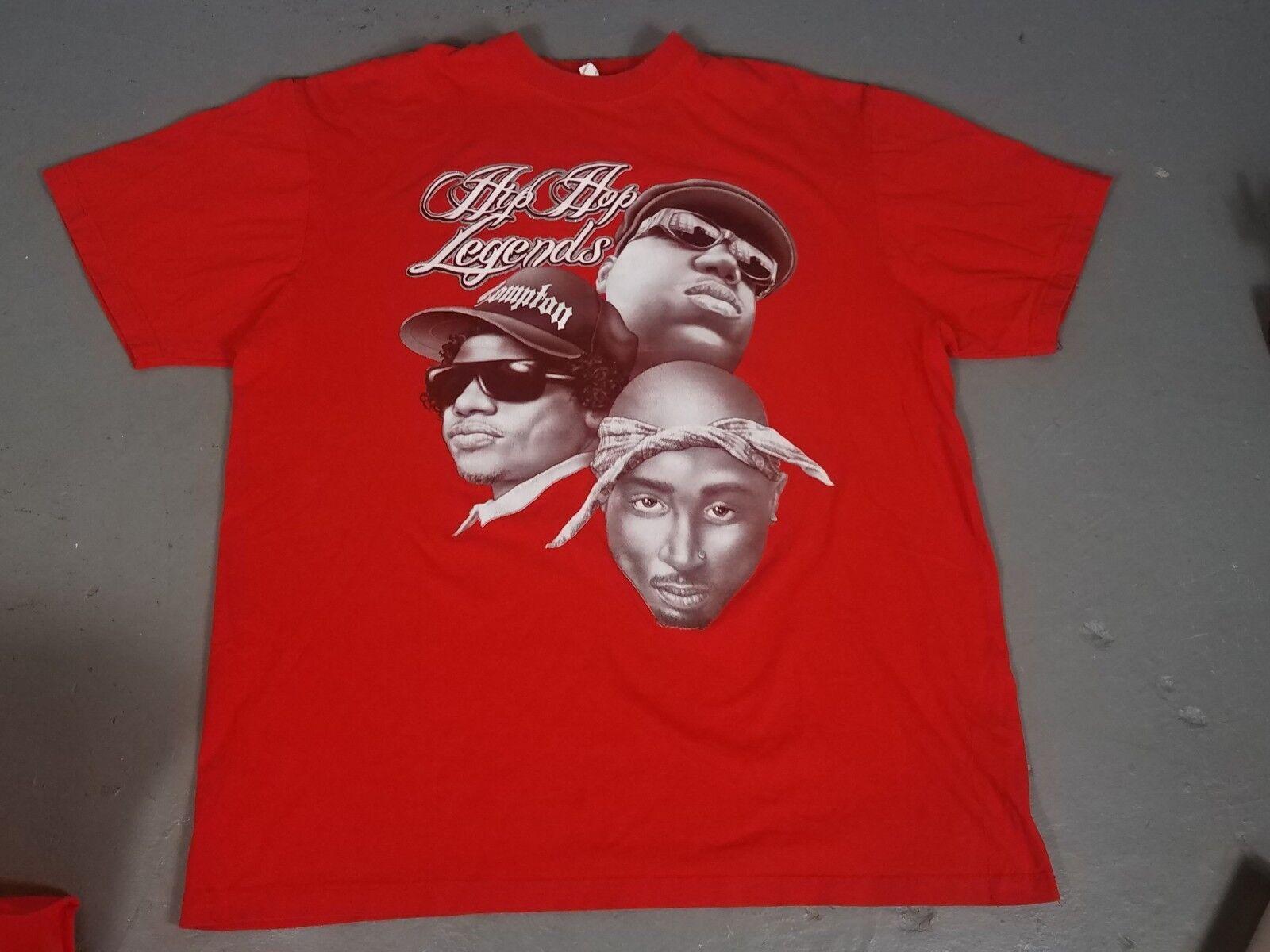 VTG 90s Tupac Easy Biggie T Shirt Rap Tee 2pac Hip Hop 4XL hip-hop legends