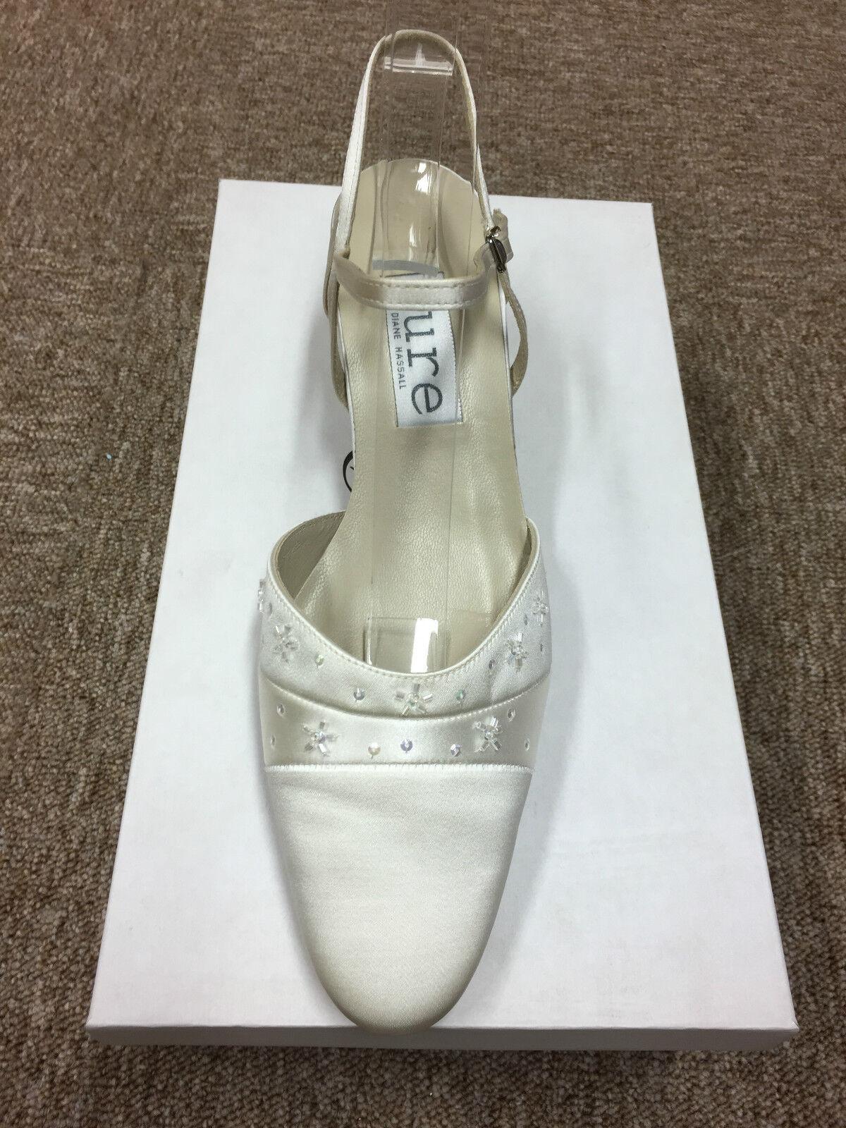 Ivory Satin Bridal Bridesmaid Wedding Shoe All Sizes Pure & Precious FORTUNE