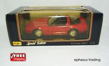 Maisto SE 1992 Chevy Corvette C4 ZR-1 ZR1 LT5 5.7l V8 Coupe Red Black 31809 1/18