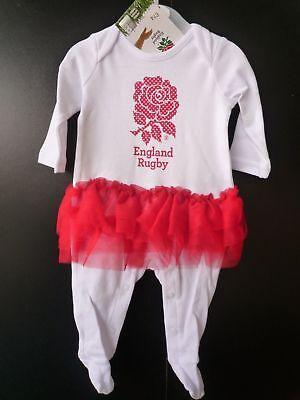 England Rugby RFU Babygrow Sleepsuit Romper  0-3 to 12-18 Months