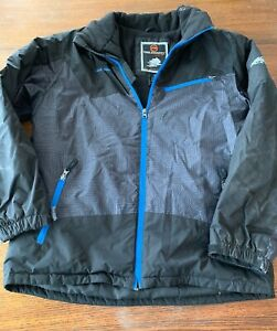 4f31d1ebc Details about Free Country FCXtreme 2 in 1 Boys 18-20 XL Black/blue Ski  Winter Jacket
