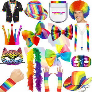 07083c93729 Image is loading Accessories-Summer-Rainbow-Pride-Festival-LGBT-Fancy-Dress-