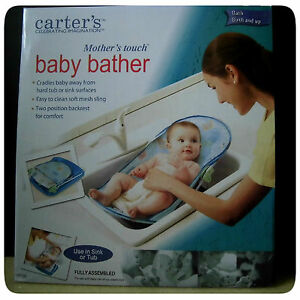 Carters Infant Mother Touch Baby Bather Safety Bath Tub