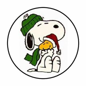 "48 SNOOPY WOODSTOCK PEANUTS ENVELOPE SEALS LABELS STICKERS 1.2/"" ROUND"
