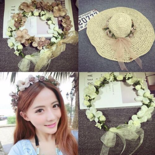 Beautiful Flower Bride Wedding Hair Wreath Floral Hairband Headband Crown Cute