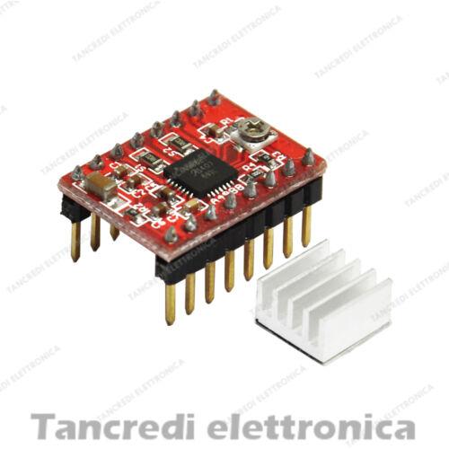 Driver A4988 reprap mendel prusa i3 stampante 3d nema17 Arduino-Compatibile
