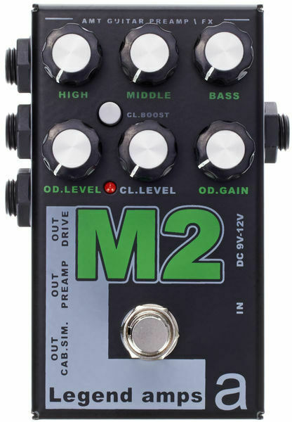 AMT M2 (Marshall) 2 channels guitar preamp distortion overdrive effects pedal