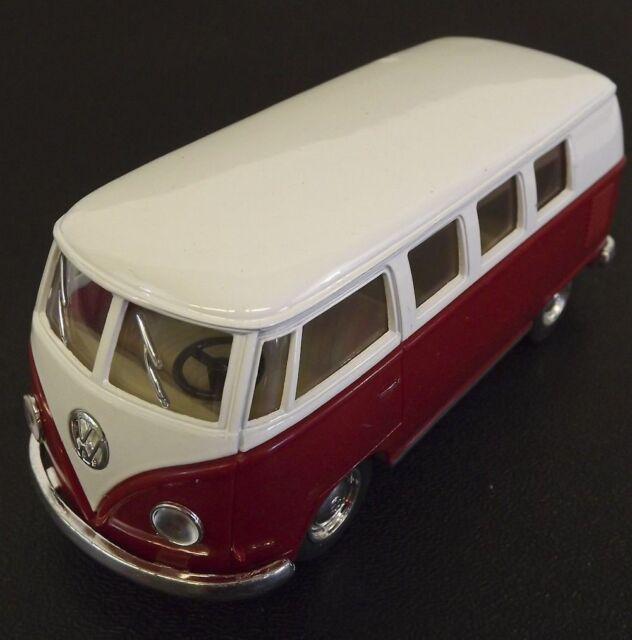 Die Cast Red 1962 Volkswagen Classic Hippie Bus VW 1 32
