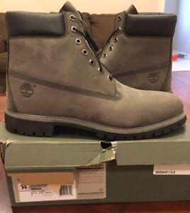 e4a197242fbc Timberland Men s Boot 6 Inch Premium 6609A Grey Black Suede Forged ...