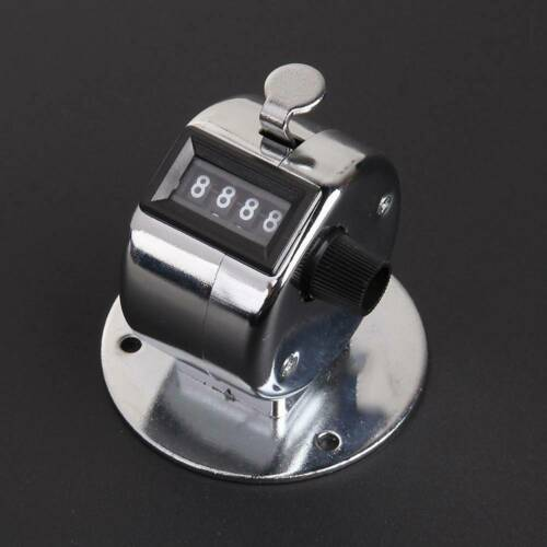 4 Digit Counting Manual Hand Tally Counter Number Mechanical Click Clicker