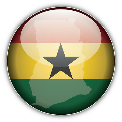 Made In Ghana Silver Label Car Bumper Sticker Decal 3/'/' or 5/'/'
