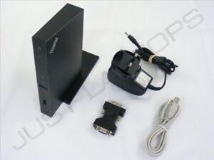 IBM-Lenovo-universale-USB-2-0-Docking-Station-replicatore-di-porte-DVI-Display-PSU