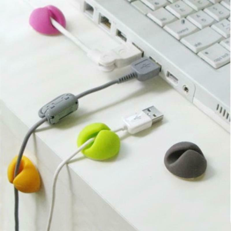 Cable Drop Clip Desk Tidy Organiser USB Wire Cord Lead Charger Holder Android