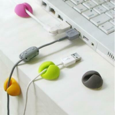 Cable Drop clip desk tidy organiser wire cord lead USB CHARGER HOLDER colour UK