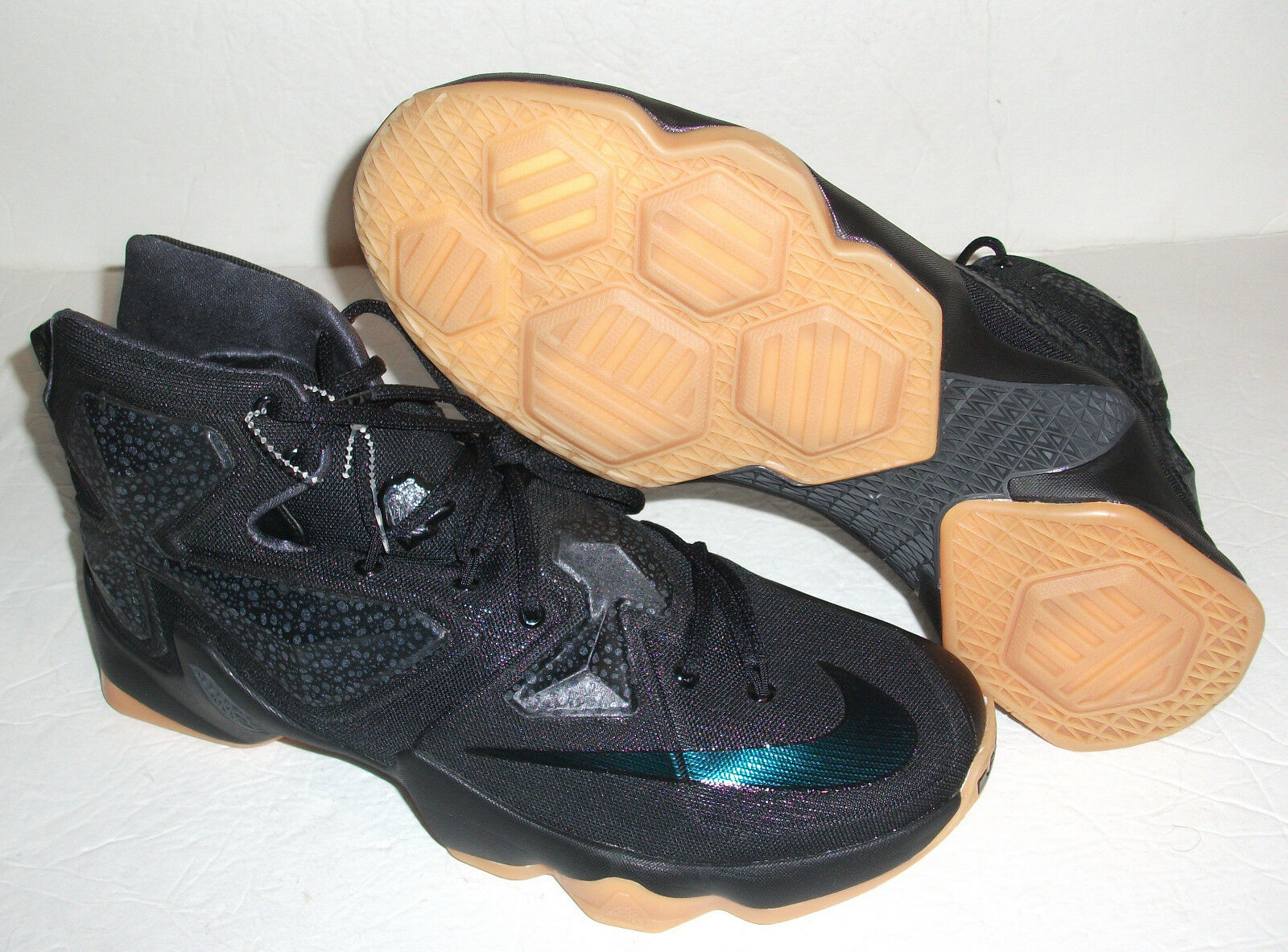 Nike LeBron 13 XIII Black Lion Basketball, Men's Size 11.5, Black, 807219 001