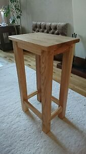 New Solid Oak Breakfast Kitchen Dinning Table Bar Stool
