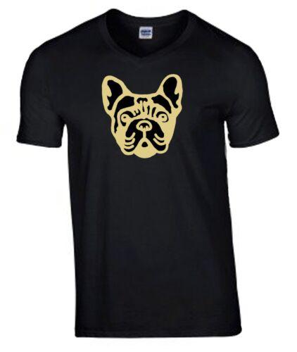 Plus Size Tee French Bulldog Face Tshirt 3XL 5XL T-shirt Crew Birthday Gift