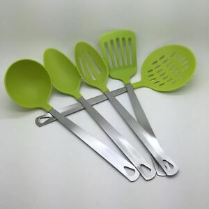 '5-Piece-Kitchen-Utensil-Set-Stainless-Steel-amp-Nylon' from the web at 'https://i.ebayimg.com/images/g/wPkAAOSwf-VWU8An/s-l300.jpg'