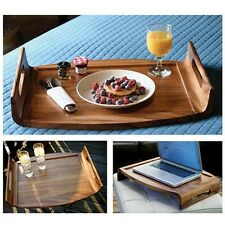 Breakfast In Bed Tray Serving Trays And Platters Reversible Cutting Board Wood