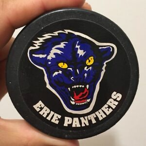 Vintage-Erie-Panthers-Ice-Hockey-Puck-10-19-1994-Opening-Night-ECHL-Made-Russia