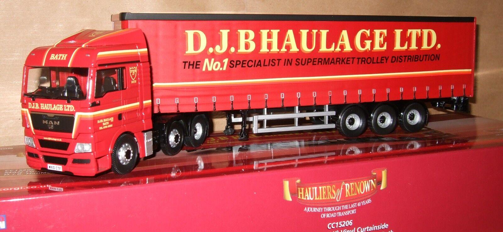 Corgi CC15206 MAN TG -X (XLX) med curtainsider D.J.B Haulage Ltd NY
