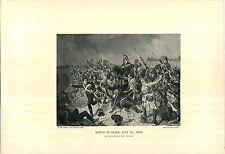 1897 Napoleon Bonaparte Battle At Znaim July 11, 1809 PRINT By Fritz L'Allemand