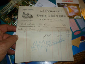 Ancienne-facture-Marechalerie-Tremeau-a-Viry-Juvisy-Marechal-Ferrand-1921