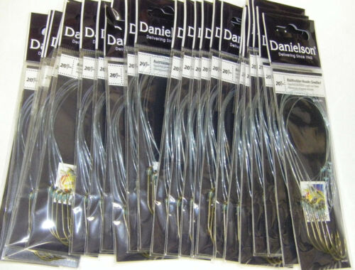 Danielson Snelled Baitholder Hooks Bronze 24 pks Size 2//0  Wholesale Fishing Lot