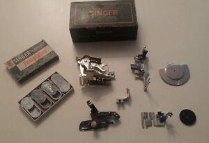 singer held sewing machine