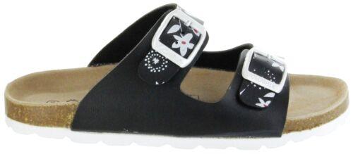 ÖkoWalk Bios Sandalen Hausschuhe Lederdeck schwarz leicht Kinder Schuhe Melody