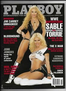 March-2004-Playboy-Magazine-WWE-Sable-VS-Torrie-Cover-FINE