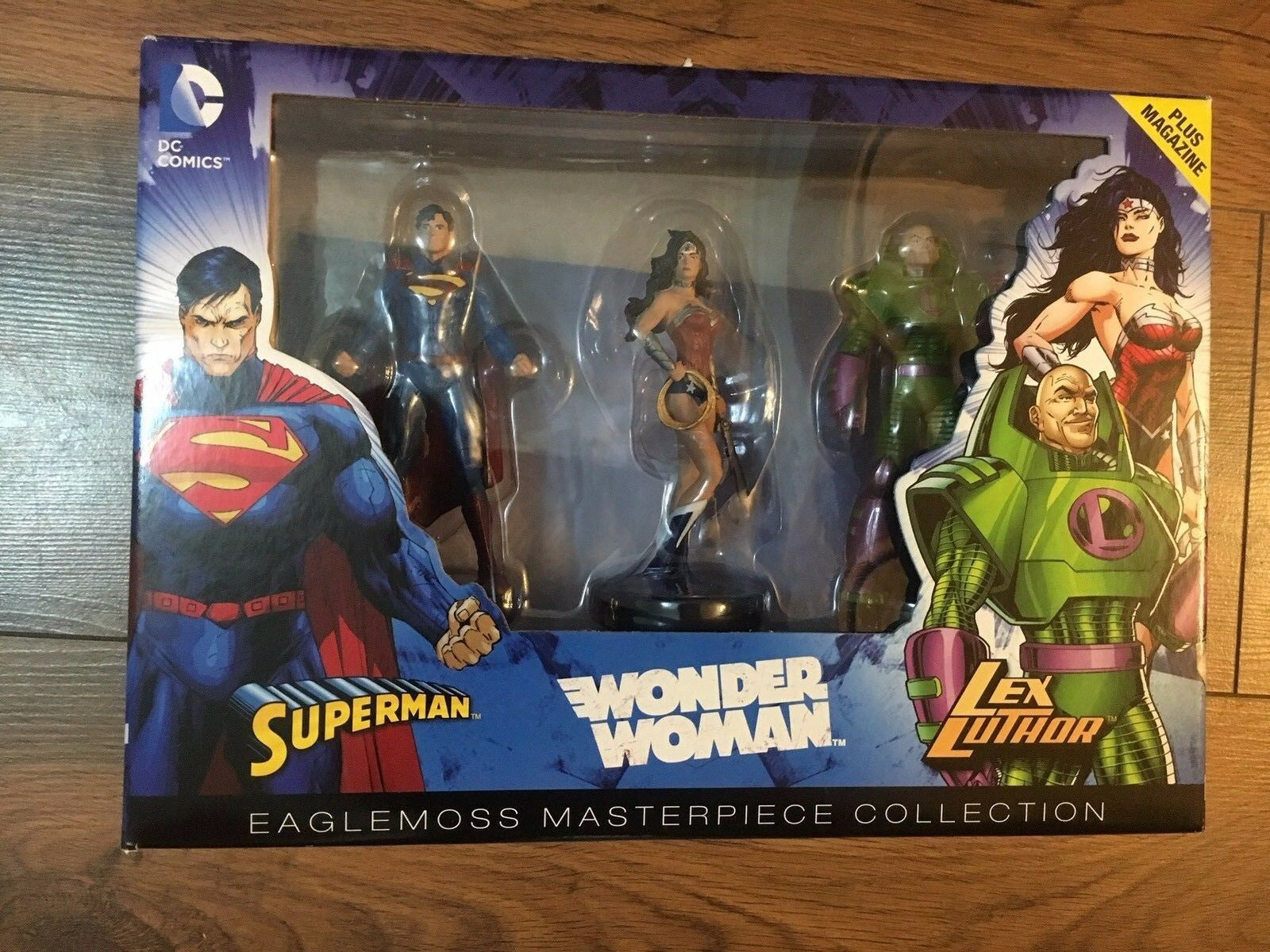 DC FIGURINE BOX SET- Superman- Wonder Woman - Lex Luthor