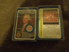 VINTAGE SMITHSONIAN INSTITUTE PRESIDENTIAL RUMMY &  HISTORY RUMMY CARD GAMES
