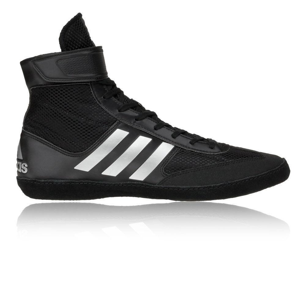 ADIDAS Combat velocità 5 Wrestling Scarpe Nero E Argento Sneaker con pompe Scarpe classiche da uomo