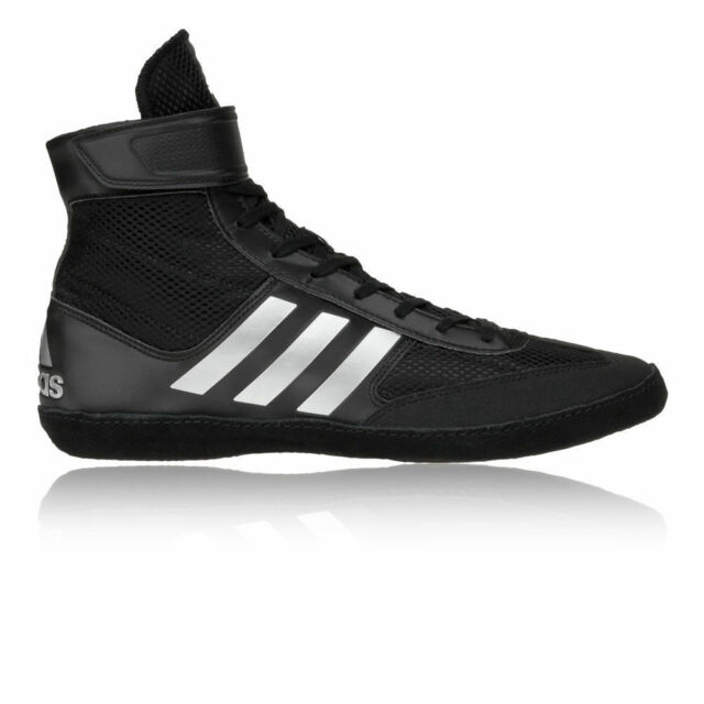 Adidas Combat Speed 5 Wrestling Shoes Black   Silver Boots Trainers Pumps 824069dbd