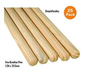 25-x-wooden-Broom-Handles-Mop-Stales-1-2-Metres-X-23-5-mm-Trade-Pack