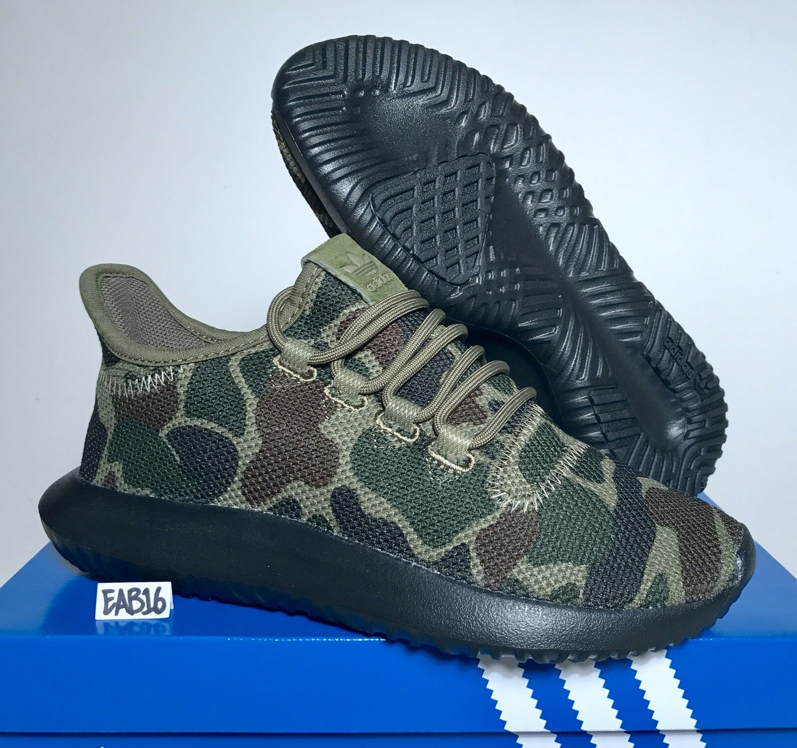 Adidas Originals Tubular Shadow Night Cargo Black Sole Camo Camouflage CP8682