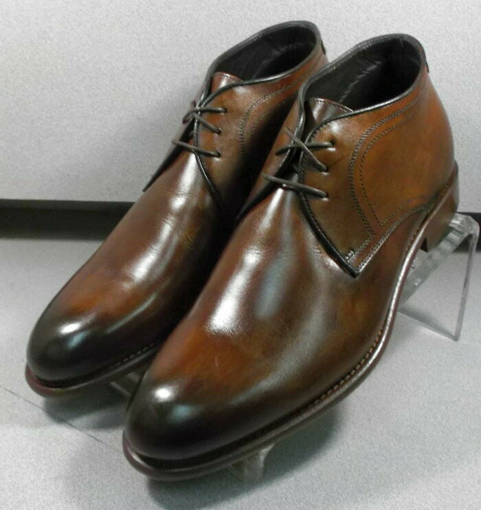 241946 esibt Homme 60 Chaussure Taille 10 M marron en cuir MADE IN ITALY Johnston & Murphy
