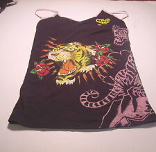 ED HARDY by CHRISTIAN AUDIGIER Pink KATE Camisole (JUNIORS SMALL)