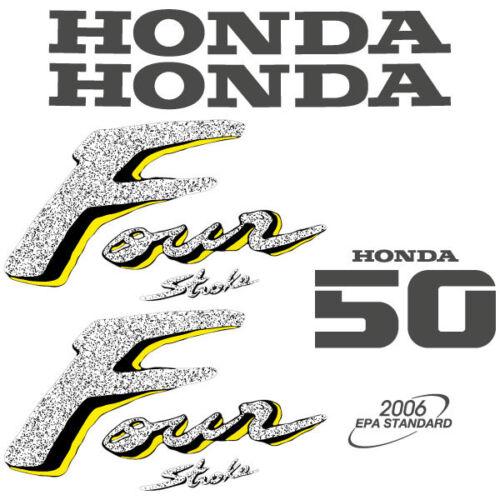 Honda 50 four stroke outboard decal aufkleber adesivo sticker set