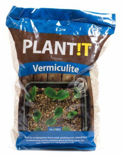 PLANT !T Vermiculite 10L Bag Hydroponic Growing Medium PLANT IT