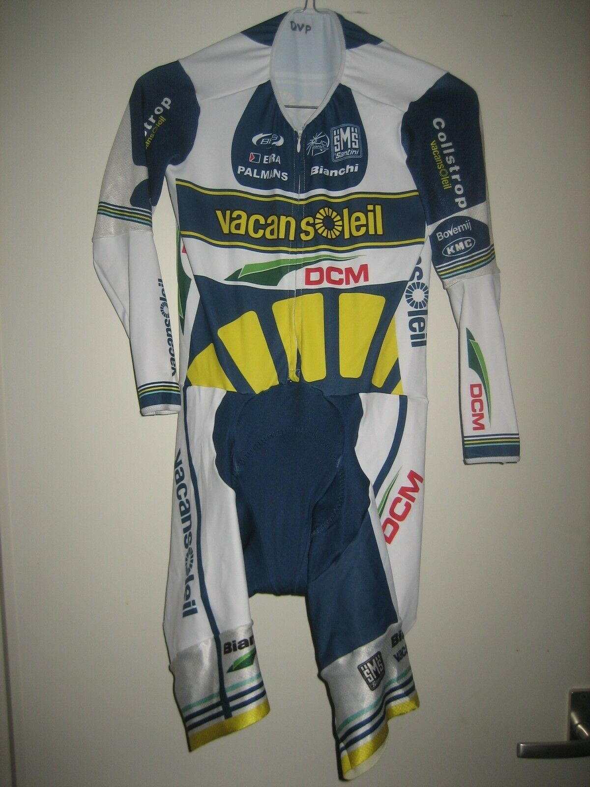 Vacansoleil WORN by VAN POPPEL jersey shirt cycling maillot trikot suit Taille XL