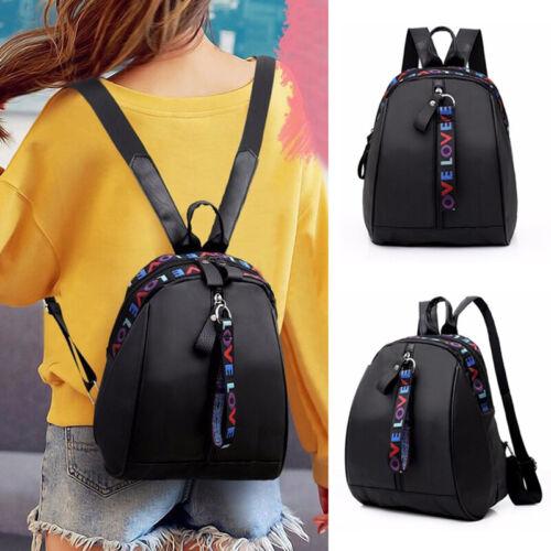 Fashion Women Small Backpack Oxford Shoulder Bag Student School Bag Black Gift