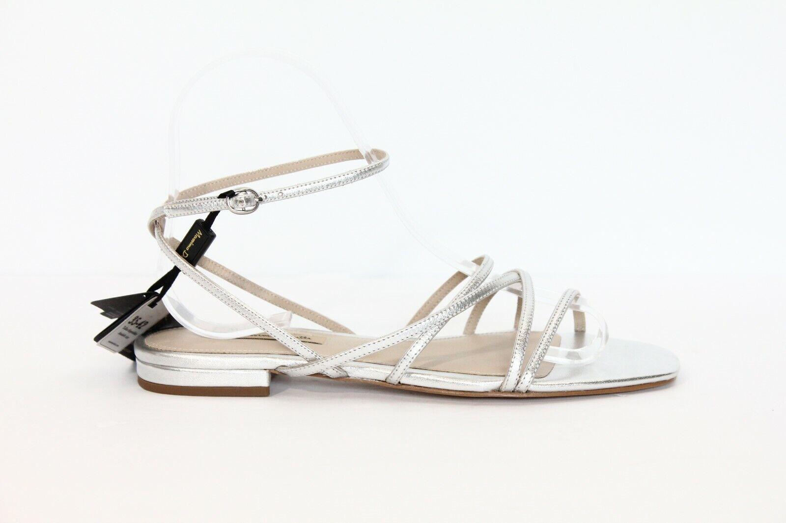toma Zapatos De Cuero Massimo DUTTI sandalias Plata Estilo Estilo Estilo De Gladiador Nuevo Mujeres Plana  directo de fábrica