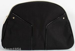 Yves-Saint-Laurent-Cosmetic-Bag-pouch-Makeup-Bag-designer-case-Black-Large